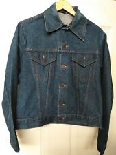 Vintage Roebucks Sears Selvedge Denim Jacket Made In Usa Men's Large R