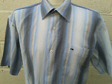 Tommy Hilfiger Men's Fitted Striped Casual Shirts & Tops