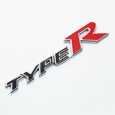 For Honda Type R Black Emblem Badge Logo Metal 3D Sticker Civic Accord Integra