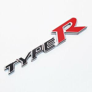 For Honda Type R Black Emblem Badge Logo Metal 3D Sticker Civic Accord Integra