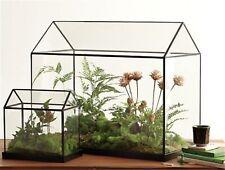 Green House Mini Handmade Tabletop Glass Miniature Landscape Garden Terrarium