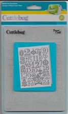 CUTTLEBUG Provocraft Christmas Countdown 5x7 Embossing Folder Emboss 37-1926