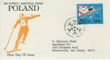 POLAND 1992 FIRST DAY COVER WINTER OLYMPICS SKIING SNOWFLAKE STAMP