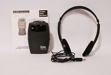 Listen Lr-300-072 Receiver With La-165 Stereo Headset