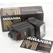 MIRANDA MAF-32 THYRISTOR AUTO ZOOM FLASHGUN For Minolta 5000 & 7000 CAMERAS