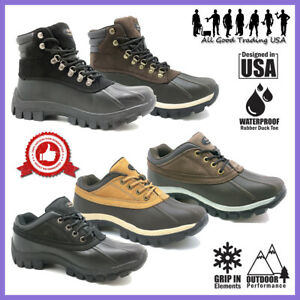 LM Winter Snow Boots Men's Insulated Work Boots Waterproof Rubber Sole 2017 3017