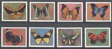 E240 AJMAN wonderful stamps, set of 8 Butterflies Mint NH