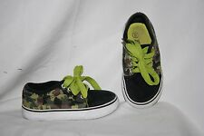 Kidgets Boys Shoes Size 8 Black Green Camo Sneakers Camouflage