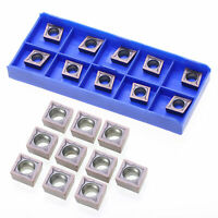 10pcs Carbide Inserts Blades CCMT09T304 VP15TF for Lathe Turning Tool Holder US