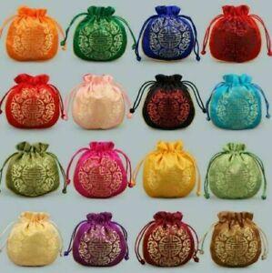2021 Hot Sale 10PCS Chinese Classic Handmade Silk Brocade Gift Jewelry Bags AAA+