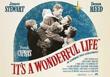 Es ist ein wunderbares Leben Film Foto drucken Poster Film Kunst JAMES STEWART Classic 01