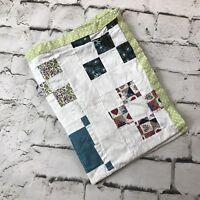 Vtg Handmade Doll Quilt Multicolor Patchwork