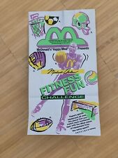 Michael Jordan Last Dance McDonalds Happy Meal Bag New 1991 Fitness Fun