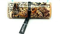 Manhattan Galian NY Hard Case Clutch Purse Bag w/Chain Nwtags Cheetah Catwalk 2*
