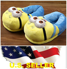 ❶❶New 3D Eyes Despicable Me Minions Stuffed Plush Slipper Unisex Adult Shoes ❶❶