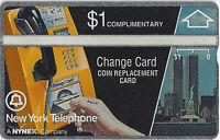TK 271b Telefonkarte $1. Nynex Complimentary Yellow Phone Change Card
