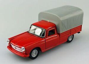 WELLY 1968 PEUGEOT 404 PICKUP RED 1:34 DIE CAST METAL MODEL NEW IN BOX