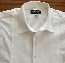 Vintage Marcella shirt 17.5 Akco Mens formal British evening dress 1970s pique