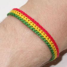 Rasta Reggae Friendship Bracelet Wristband Jamaica Bob Marley Charm Cuff Bangle