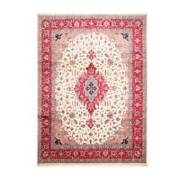 9'2'' x 12'4'' Hand Knotted Wool PakPersian Tabrizz 300 KPSI Area Rug Ivory 9x12