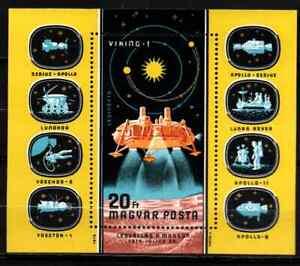 HUNGARY 1976 - BLOC AIRMAIL / SPACE EXPLORATION MNH
