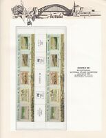 AD100) Australia 1988 The Early Years gutter strips overprinted for SYDPEX 88
