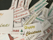 101 X Mixed  Christmas Caption Embellishment/card Making /Sentiments/Clearance