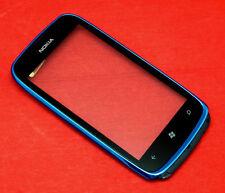 Original Nokia Lumia 610 Touchscreen Glas Digitizer ink Hörmuschel Rahmen Blau