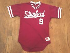 2001 Mark Marquess Game Used Stanford Baseball #9 Jersey College World Series