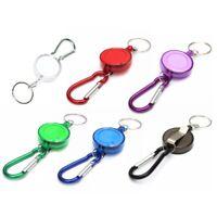Retractable Keyring Pull Ring Car Keyfob Key Chaincoil Gift