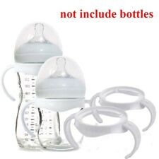 1X Non-Slip Bottle Grip Handle Natural PP Glass Feeding Baby Bottle Accessories