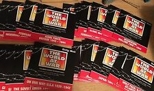 THE WORLD AT WAR DVD SET  Daily Mail Complete Set 26 DVDs WITH WATCH LIST