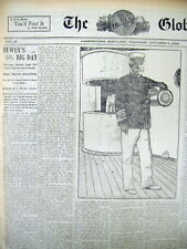 1899 newspaper SPANISH-AMERICAN WAR Admiral GEORGE DEWEY in NY City naval parade