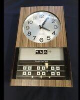 Seiko Sonola Transistor ClockElectro Magnetic Pendulum, Japan rare arabic date