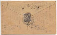 INDIA USED IN BURMA COVER 1/6/1930;BASSIEN - KARAIKUDI; NOT GOOD MARKS.