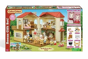 Brand New! Calico Critters Red Roof Country Home Bonus Gift Set, #CC1797