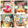 Happy Birthday Cupcake Topper Cake Flags Baby Kids Party DIY Decor Gifts