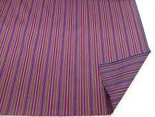 "Purple Mini Stripe ""Paul Smith STYLE Striped 100% Wool Curtain/Upholstery Fabric"
