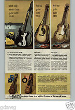 1966 PAPER AD Guitar Bass Smith's Electric Mahogany Walnut Ukelele Steel-Strung
