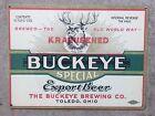 Buckeye Brewing Buckeyes Beer Columbus Toledo Ohio State Football Metal Sign
