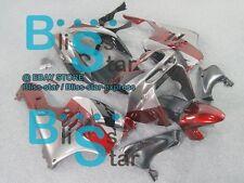 Silver Red Fairing Kit Fit Kawasaki Ninja ZX9R ZX-9R 1995 1996 1994-1997 001 A7