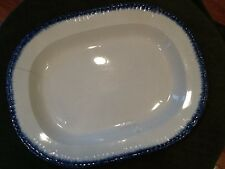 Feather Edge Large Flow Blue 17-3/4 in Platter Vintage