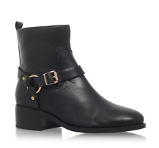 Carvela Kurt Geiger Petro Womens UK 8 EU 41 Black Leather Zip Up Ankle Boots