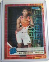 RUI HACHIMURA 2019-20 Donruss Choice RATED ROOKIE RED INFINITE RC /99 Wizards