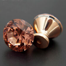 12Pcs Unique Color Pull Handle Rose Gold K9 Crystal Cabinet Drawer Door Knob