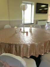 "Round Sequin Table Cloths  - 15+ Colours - 3 Sizes Available 50"", 90"" & 132"""