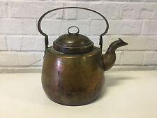 Antique Primitive Copper Tea Pot Kettle / Hot Water Pot w/ Dovetails