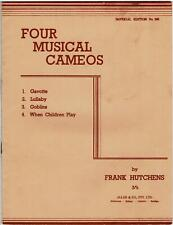 FOUR MUSICAL CAMEOS SHEET MUSIC BOOK, Frank Hutchens ©1936 - 12 pages, Goblins