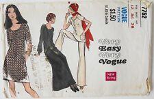 Vogue 7752 Very Easy Misses Dress Tunic Pants Sewing Pattern Sz 12 B34