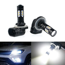 Pair Cree 50W 881 886 894 896 LED Fog Light DRL Lamp Bulb Ultra White High Power